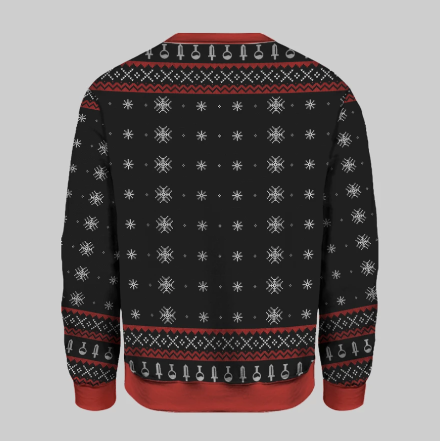 Have yourself a merry little crit-mas ugly sweater 1