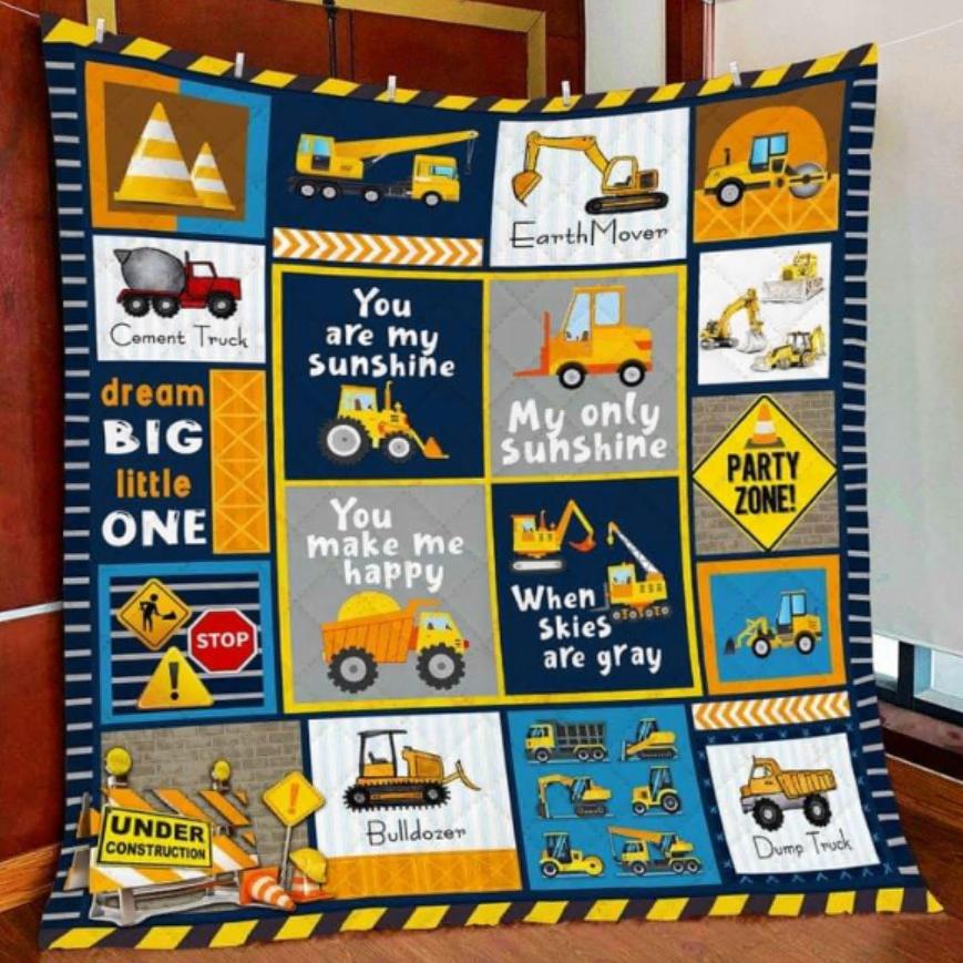 Heavy equipment boy quilt