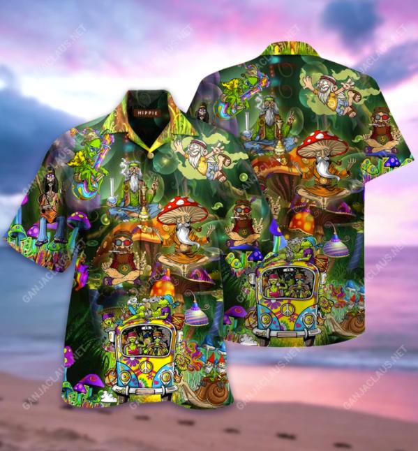 Hippie things hawaiian shirt