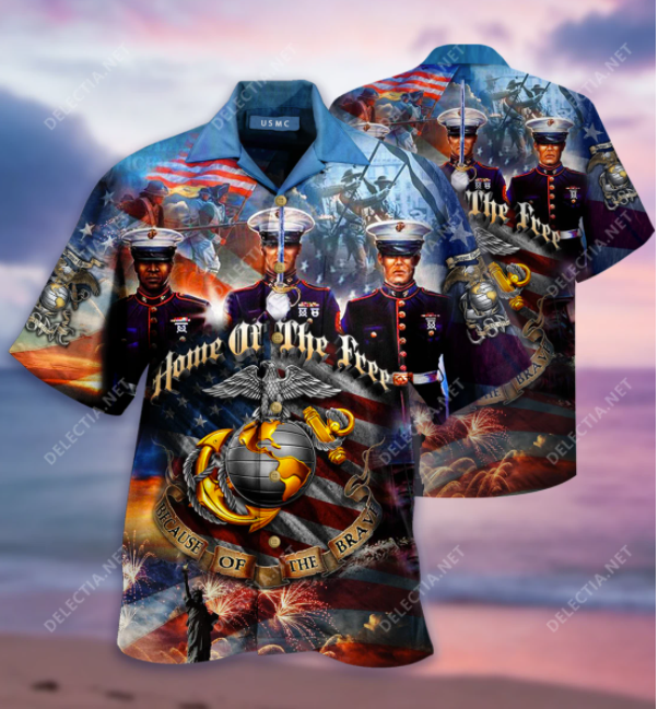 vHome of the free because of the brave USMC hawaiian
