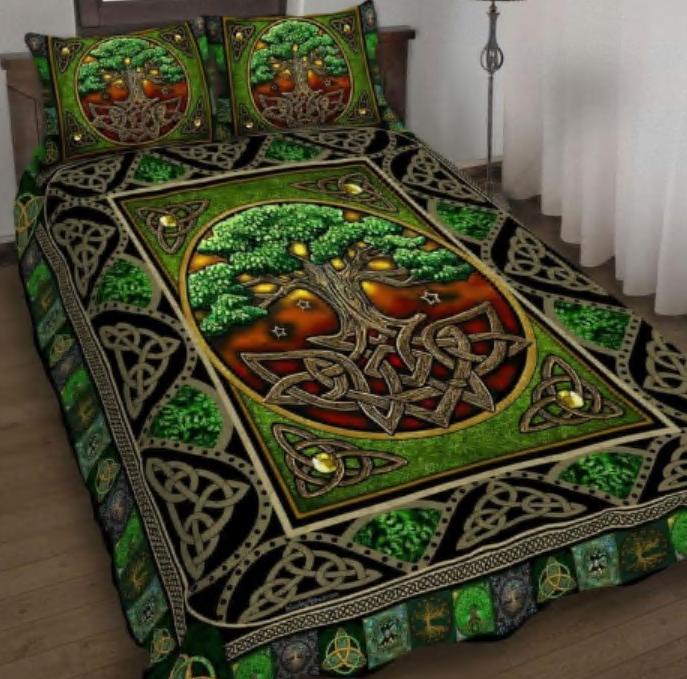Irish tree of life bedding set