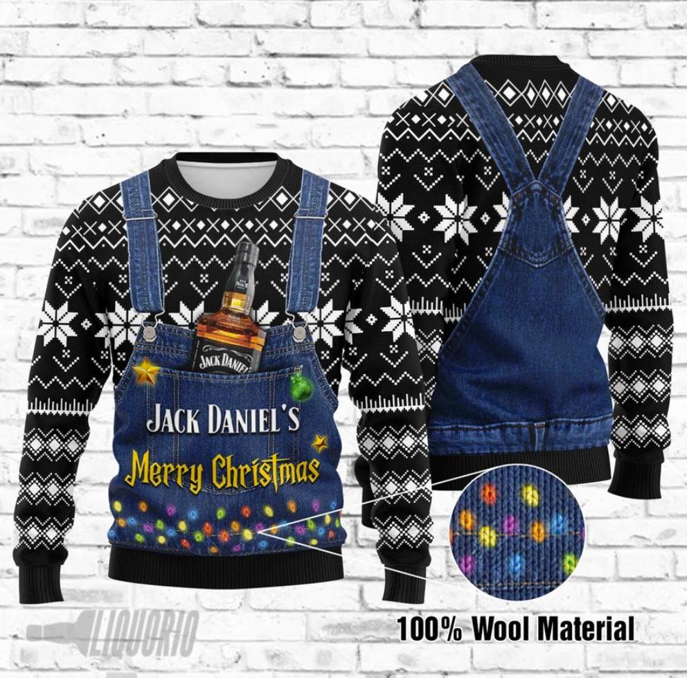 Jack Daniel's Merry Christmas ugly sweater