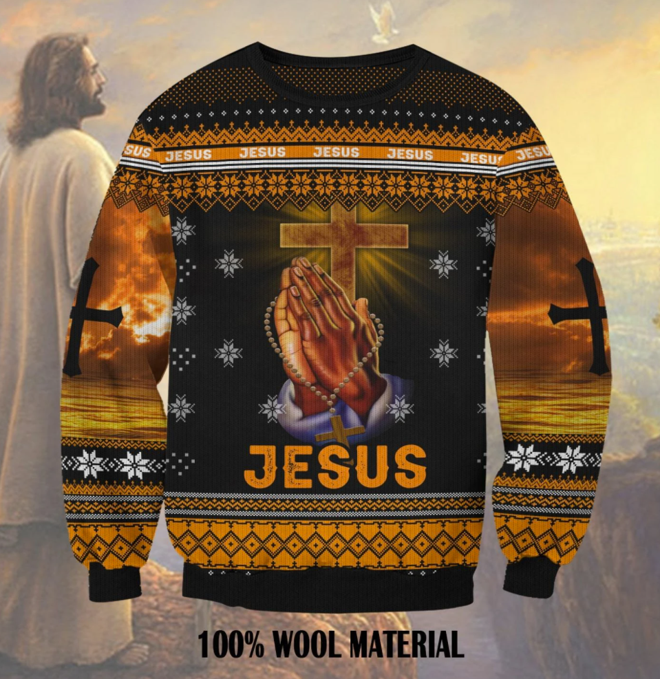 Jesus 3D ugly sweater