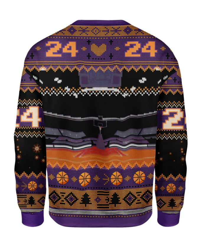 Kobe Bryant and Santa Claus ugly sweater 1