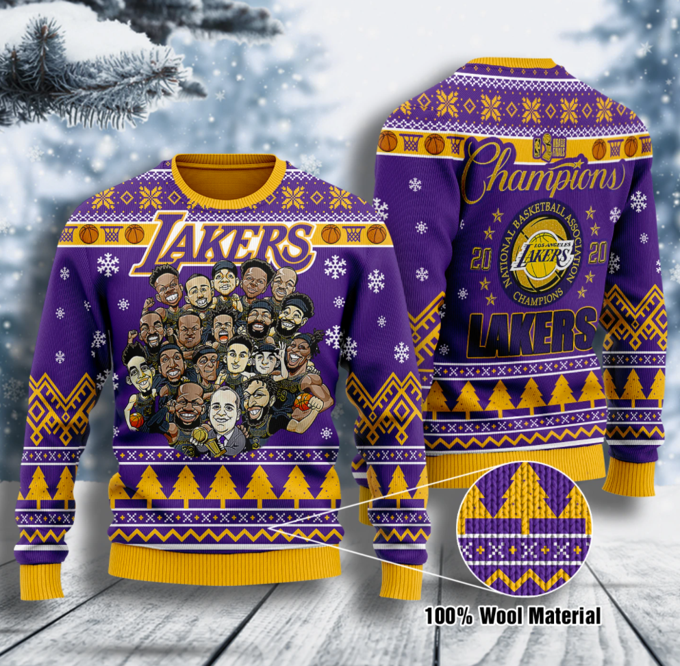 Lakers champion 2020 ugly sweater