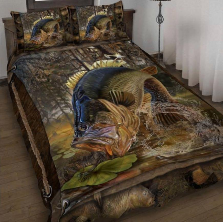 Largemouth Bass Fishing bedding set