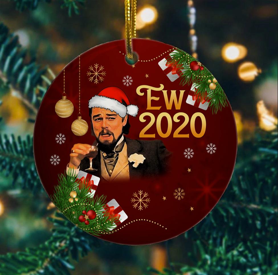 Leo laughing meme Christmas Ornament