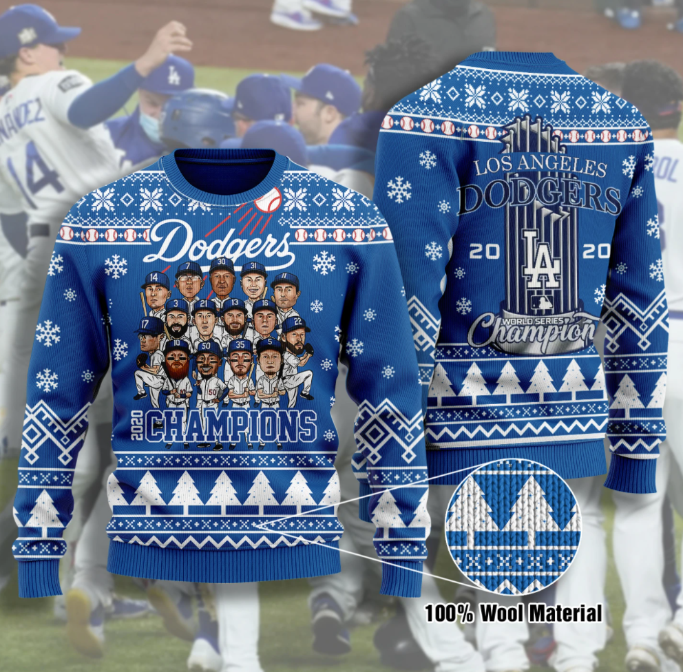Los Angeles Dodgers champion 2020 ugly sweater