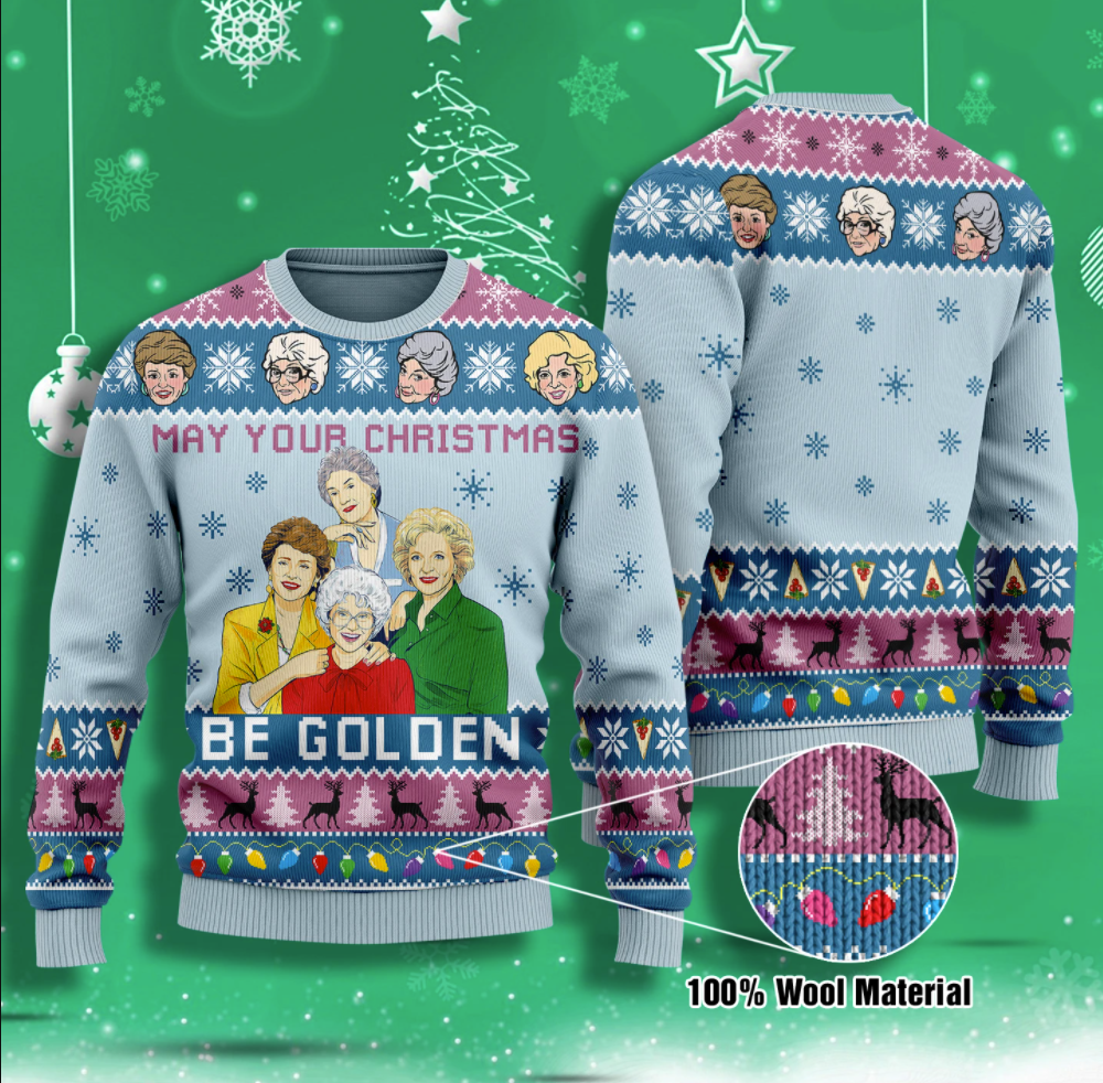 May your Christmas be golden ugly sweater