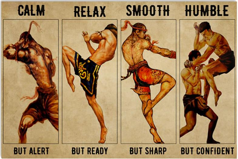 Muay Thai calm but alert relax but ready poster
