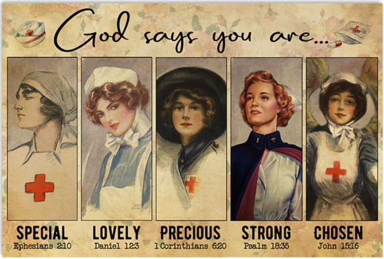 Nurses God says you are special lovely precious strong chosen poster