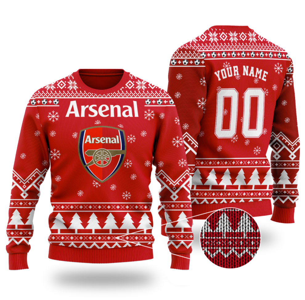 Personalized Arsenal ugly sweater