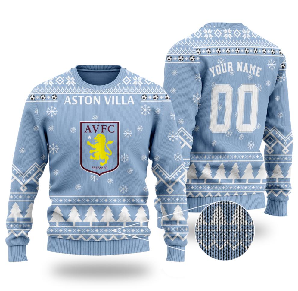 Personalized Aston Villa ugly sweater