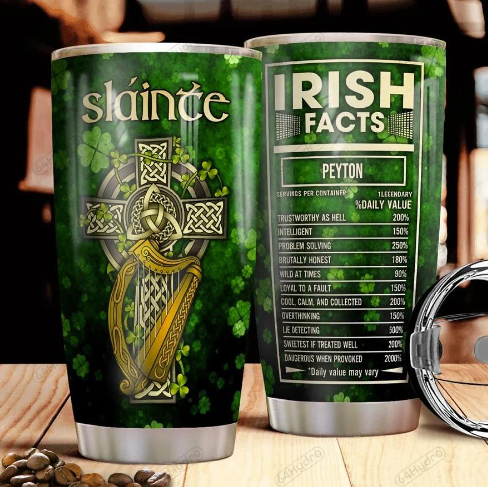 Personalized Irish facts tumbler 1