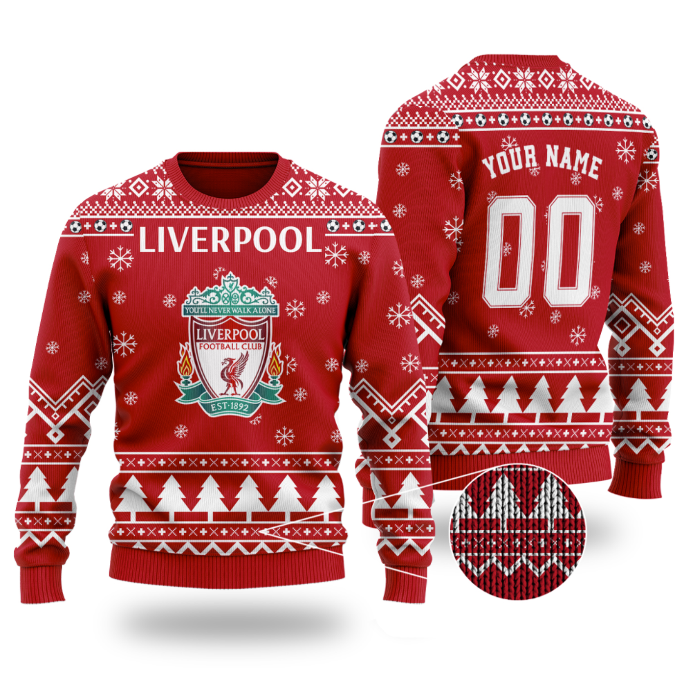 Personalized Liverpool ugly sweater