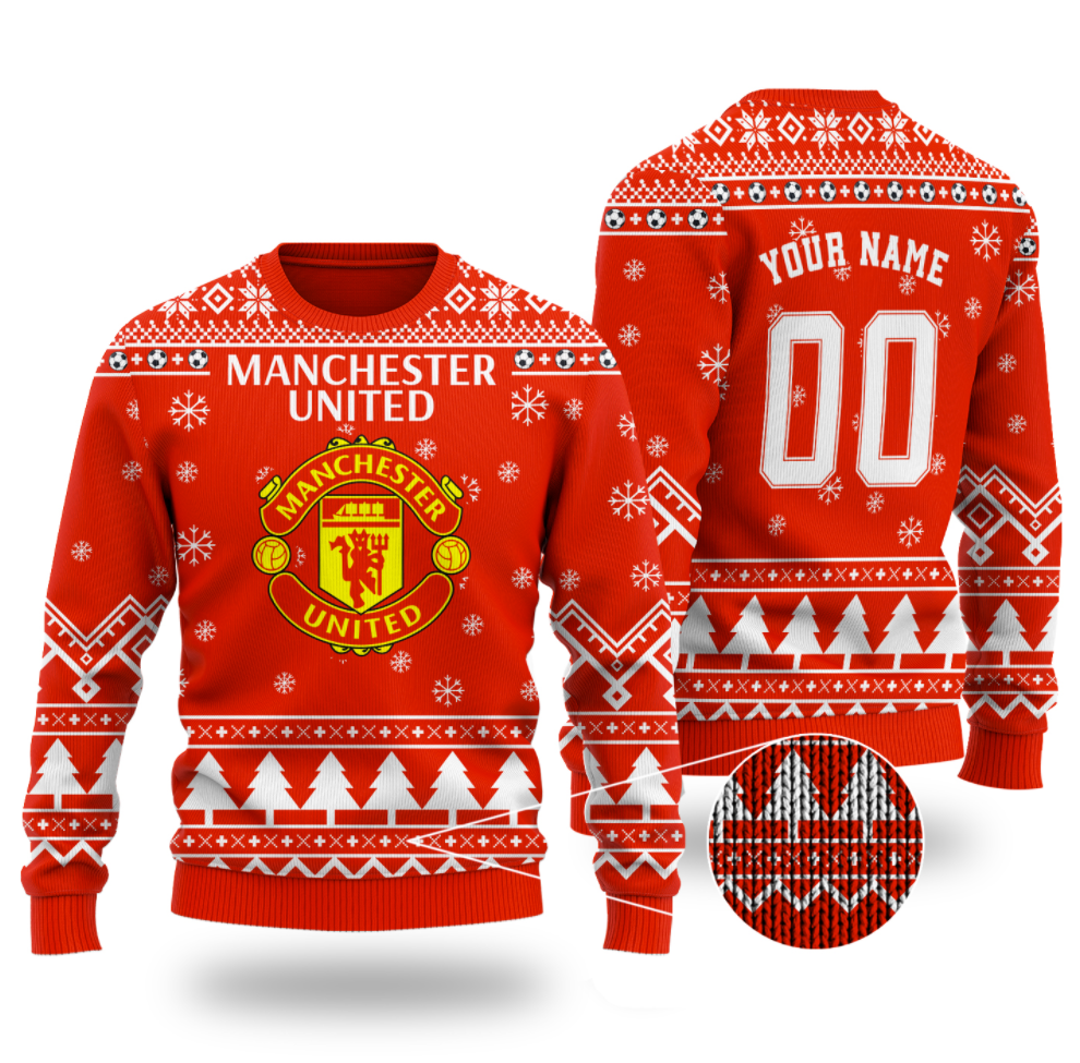 Personalized Manchester United ugly sweater