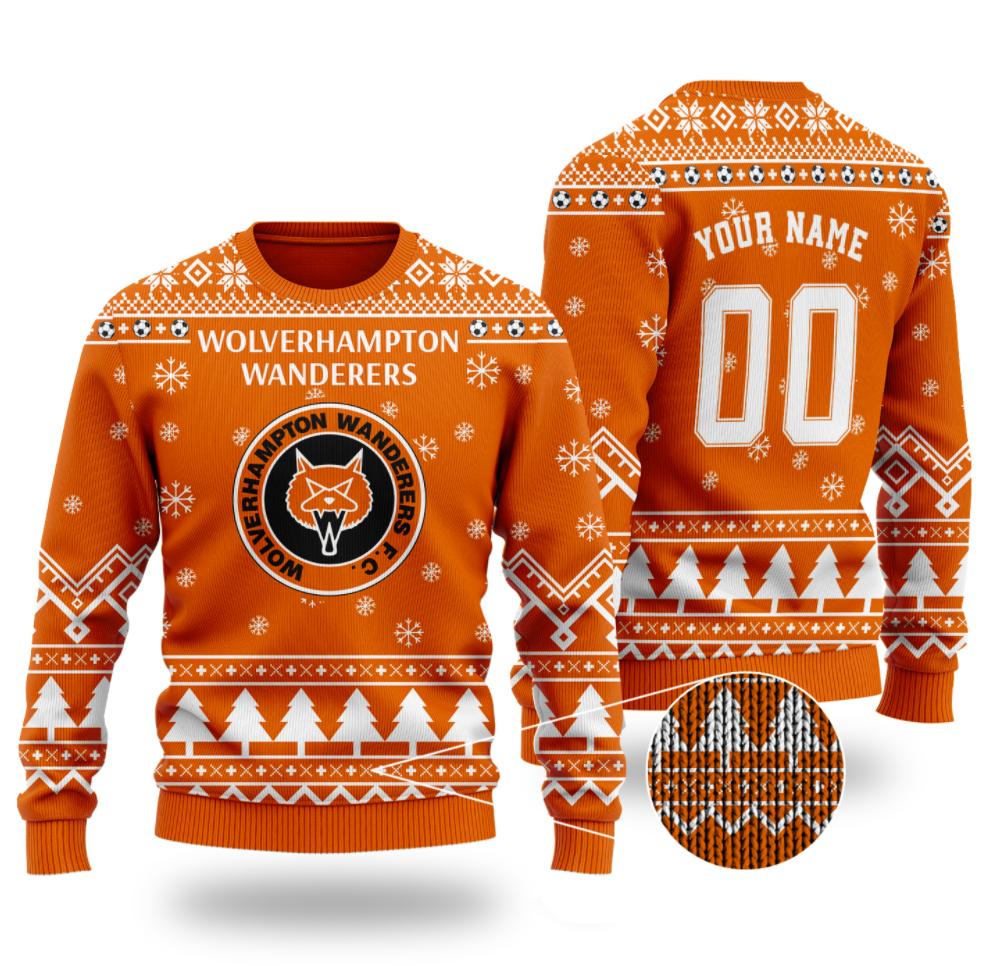 Personalized Wolverhampton Wanderers ugly sweater