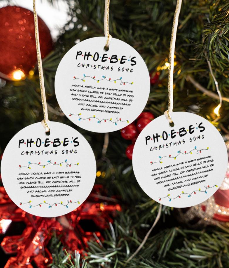Phoebe's christmas song Christmas Ornament