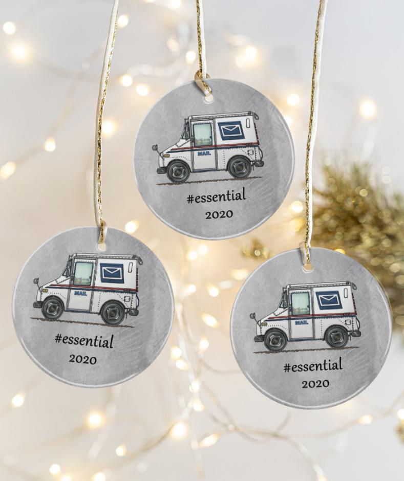 Postal Worker essential 2020 Christmas ornament 1