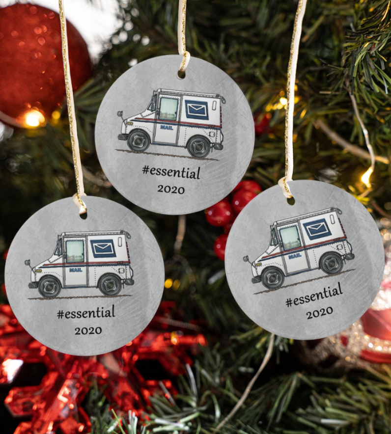 Postal Worker essential 2020 Christmas ornament
