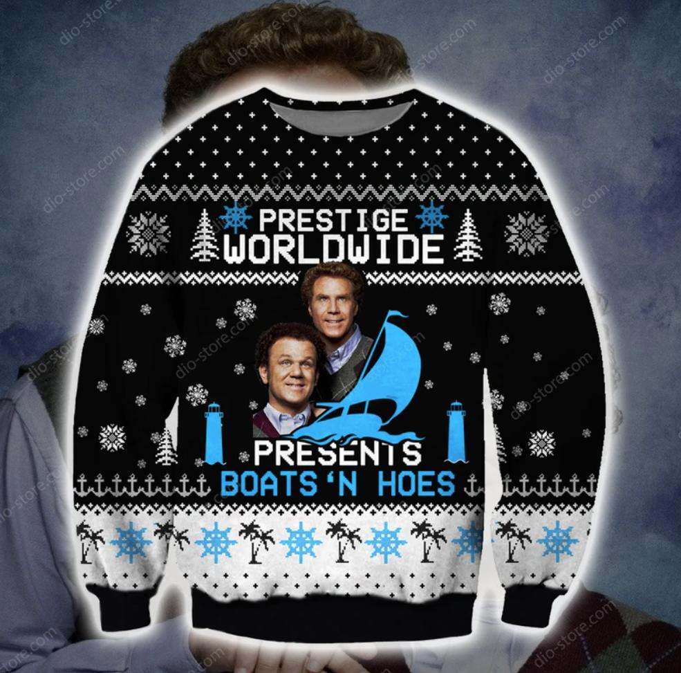 Prestige worldwide presents boats'n hoes 3D ugly sweater