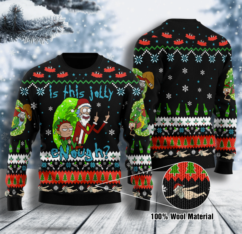Rick and Morty is this jolly enough ugly sweater