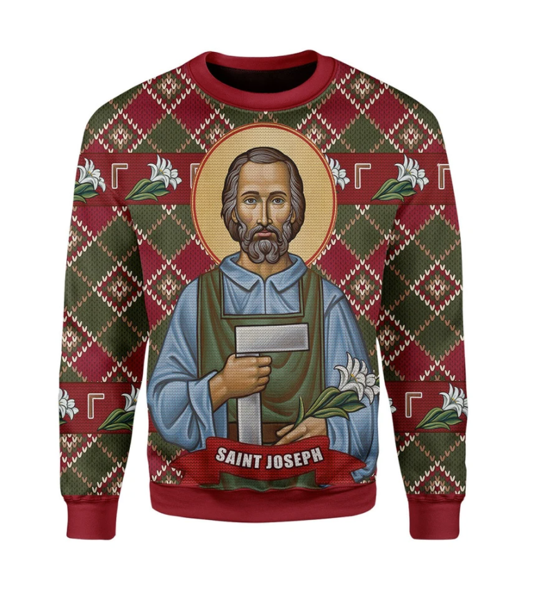 Saint Joseph ugly sweater