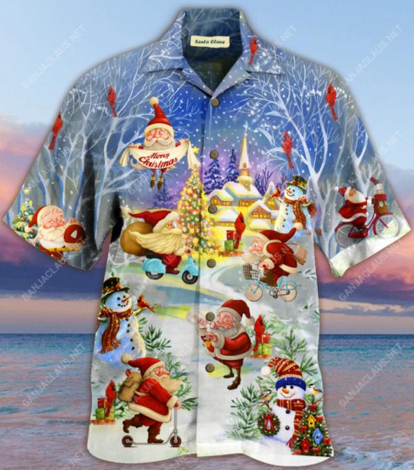 Santa Claus Merry Christmas hawaiian shirt 1