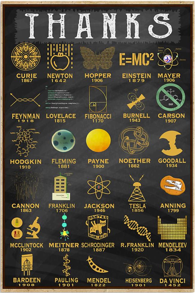 Scientist thanks poster