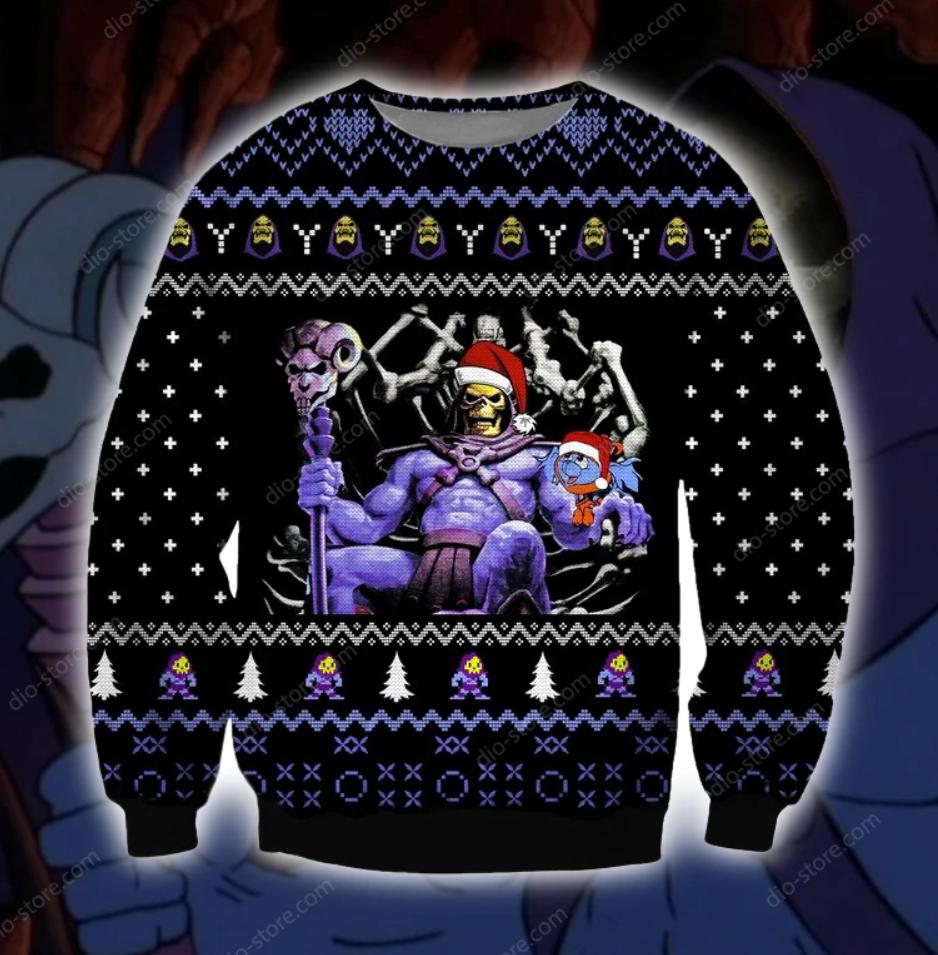 Skeletor 3D ugly sweater