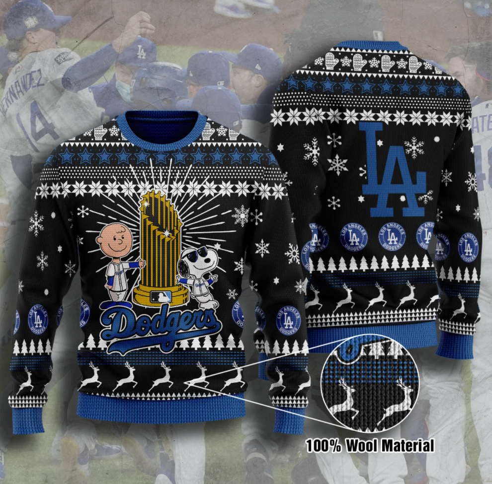 Snoopy Los Angeles Dodgers champion 2020 ugly sweater