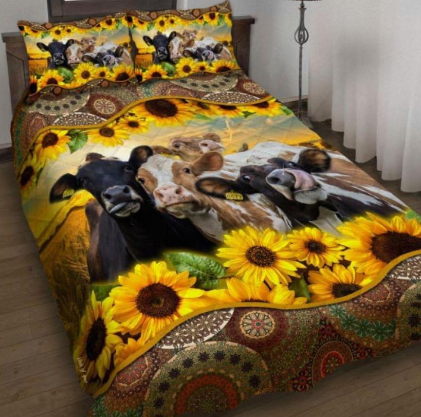Sunflower cattle bedding set