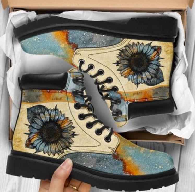 Sunflower vintage timberland boots 1