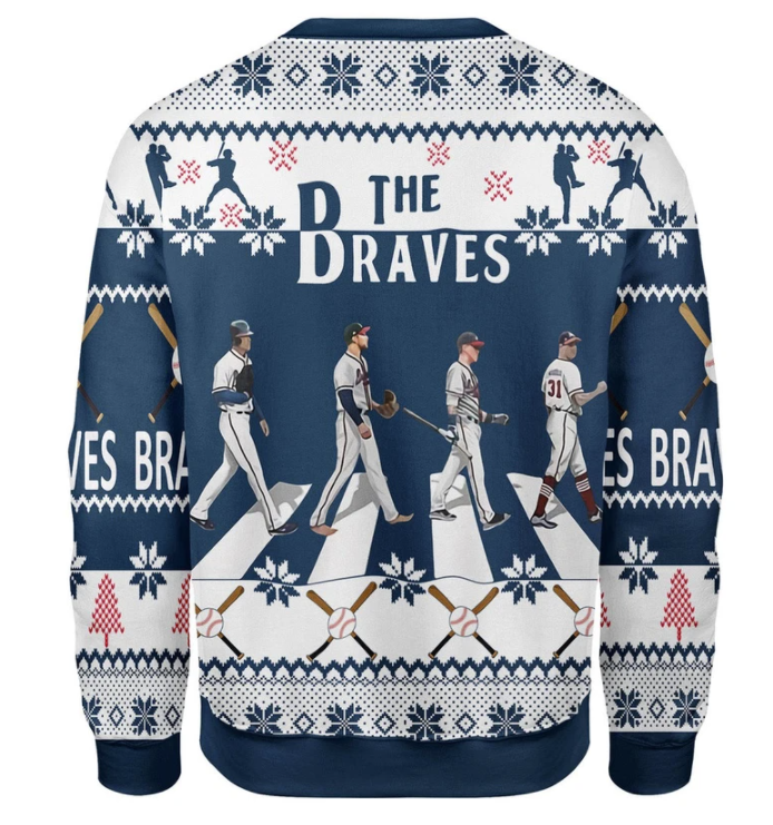 The Braves Walking Abbey Road ugly sweater 1
