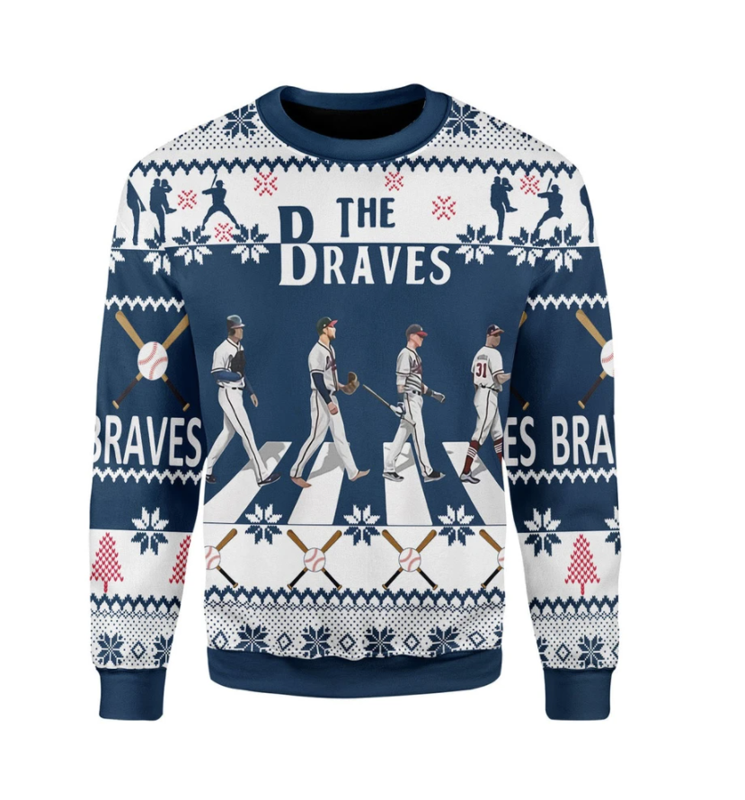 The Braves Walking Abbey Road ugly sweater
