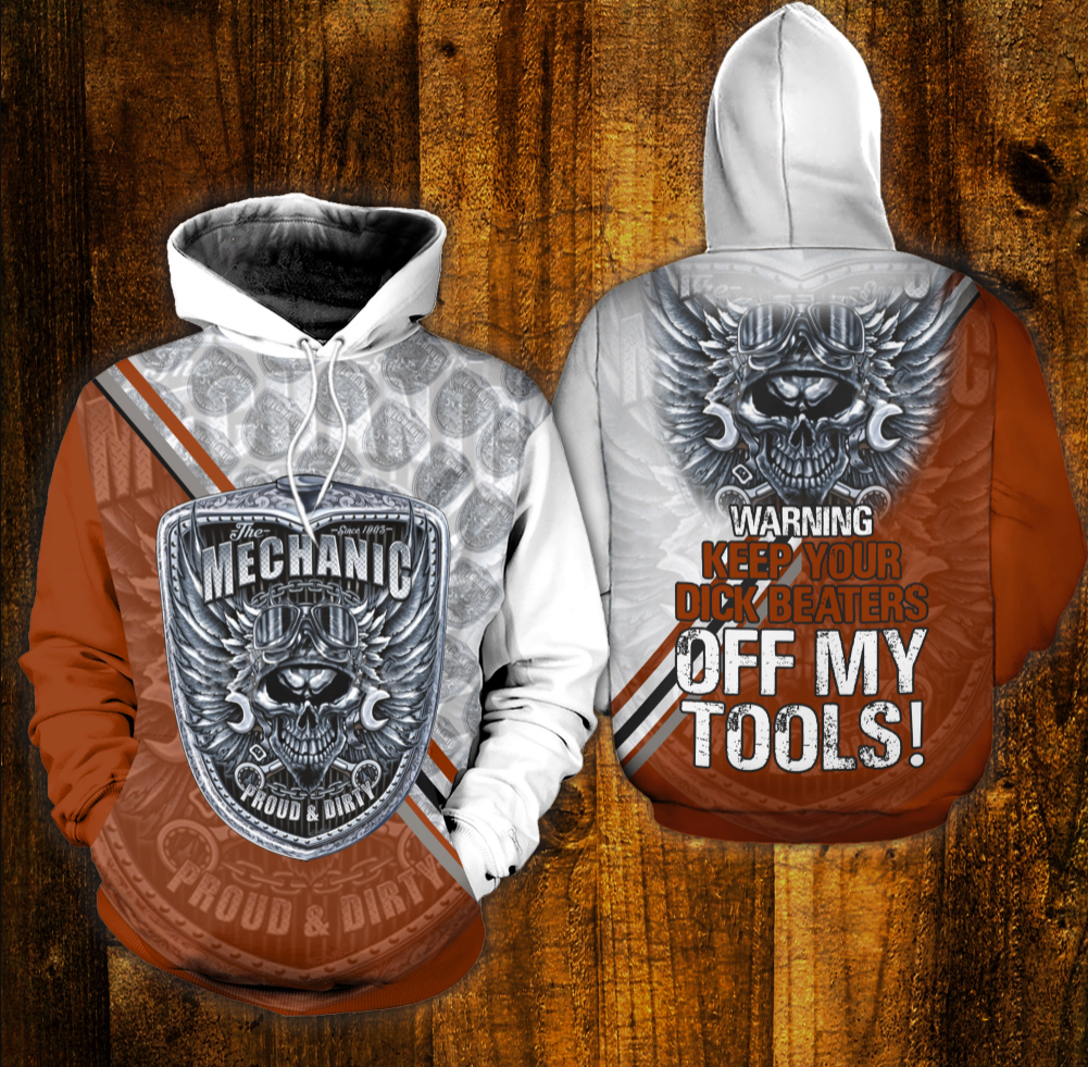 The Mechanic proud and dirty all over printed 3D hoodie