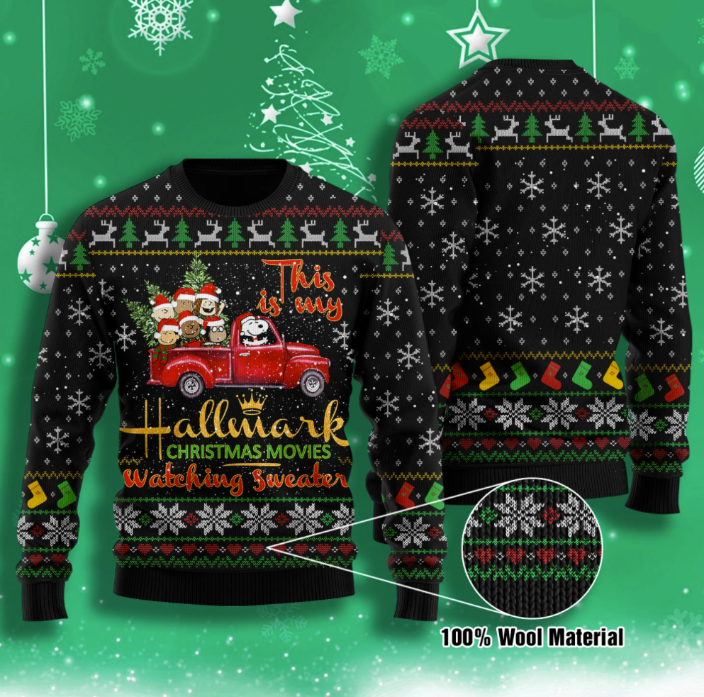 This is my Hallmark Christmas movies watching sweater ugly sweater