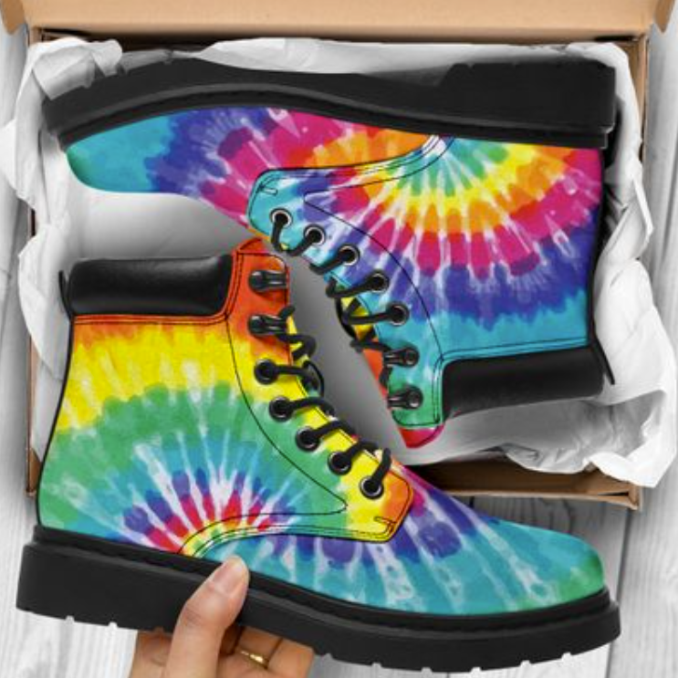Tie-dye season timberland boots