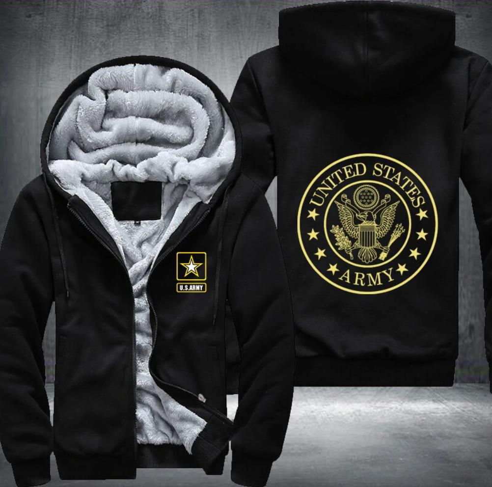 United States Army fleece hoodie jacket