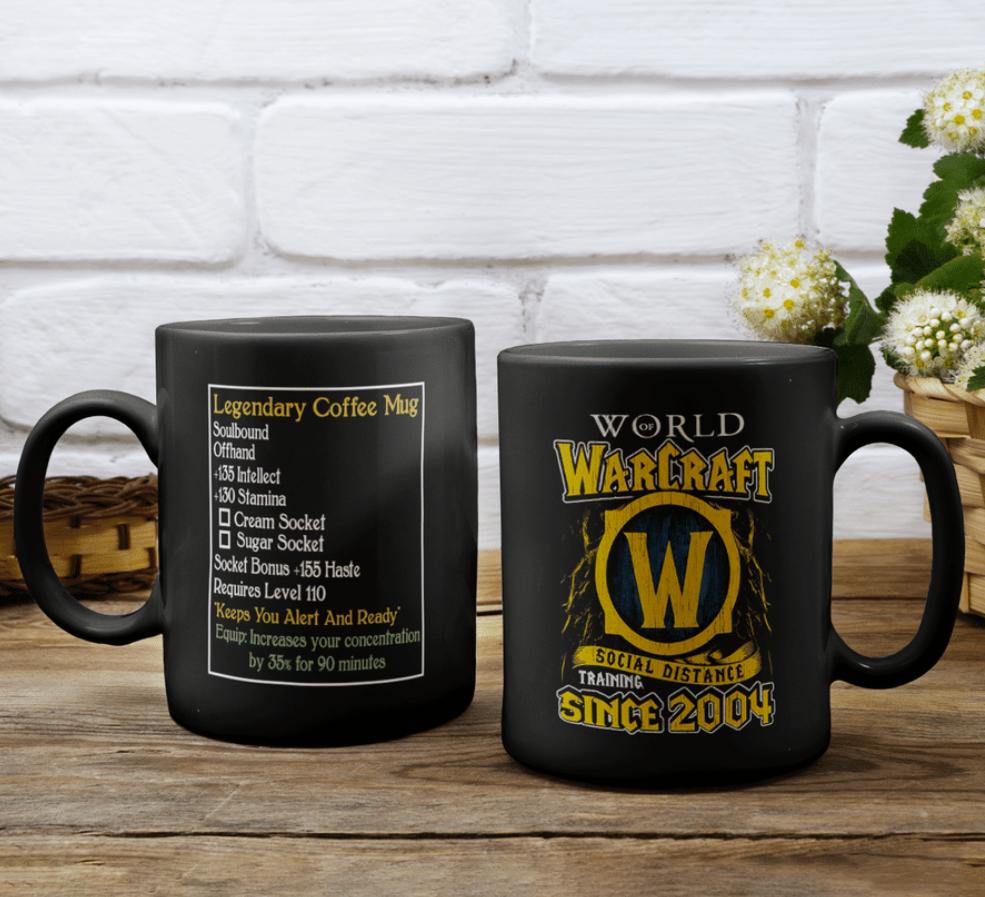 World Warcraft social distance training since 2004 mug