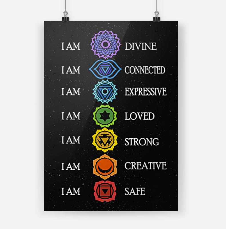 Yoga i am divine i am connected i am expressive poster