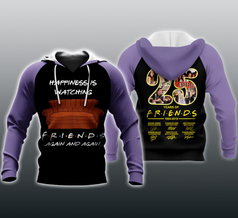 25 years of Friends all over printed 3D hoodie