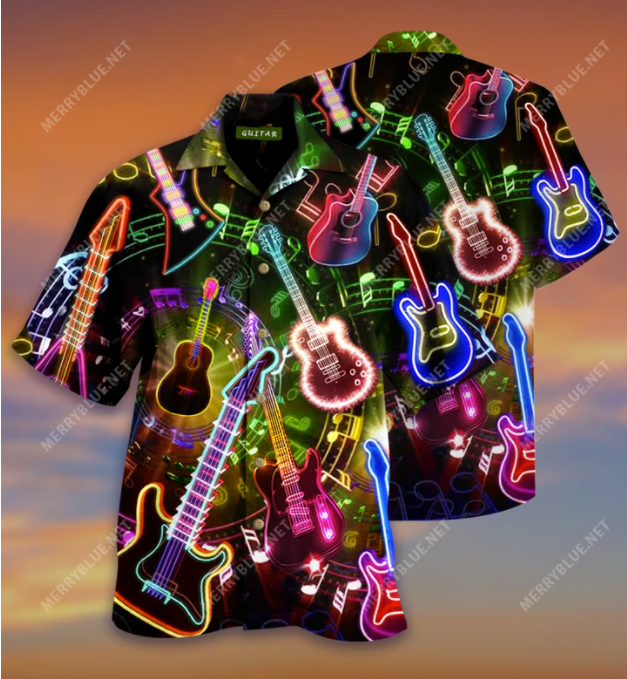 All You Need Is A Guitar hawaiian shirt