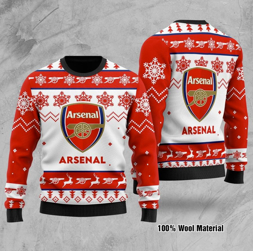 Arsenal FC ugly sweater