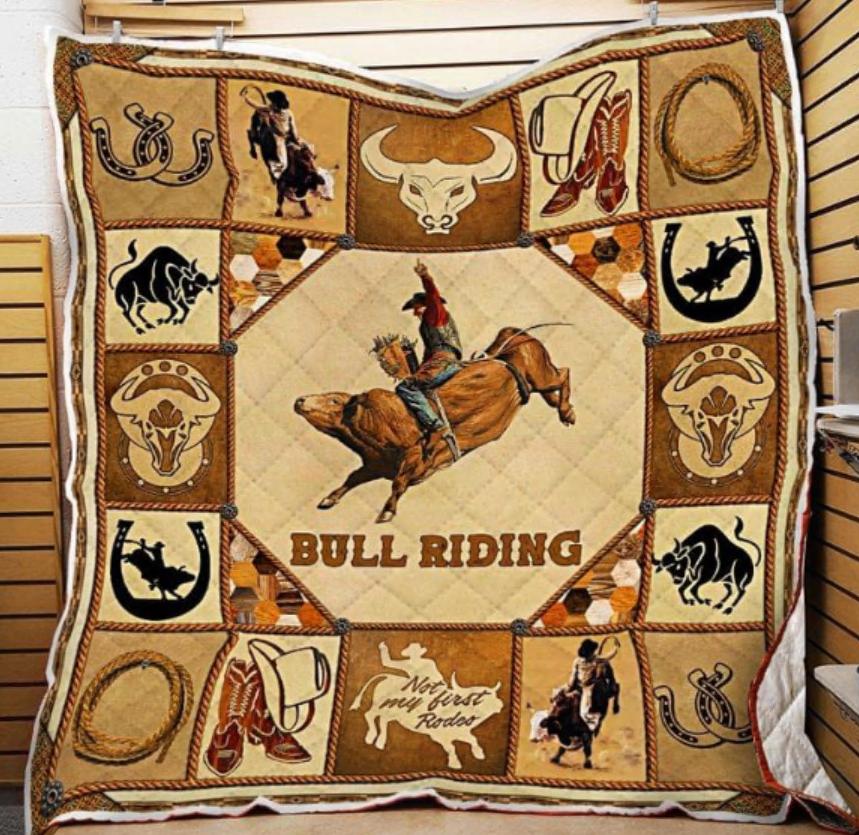 Bull riding quilt
