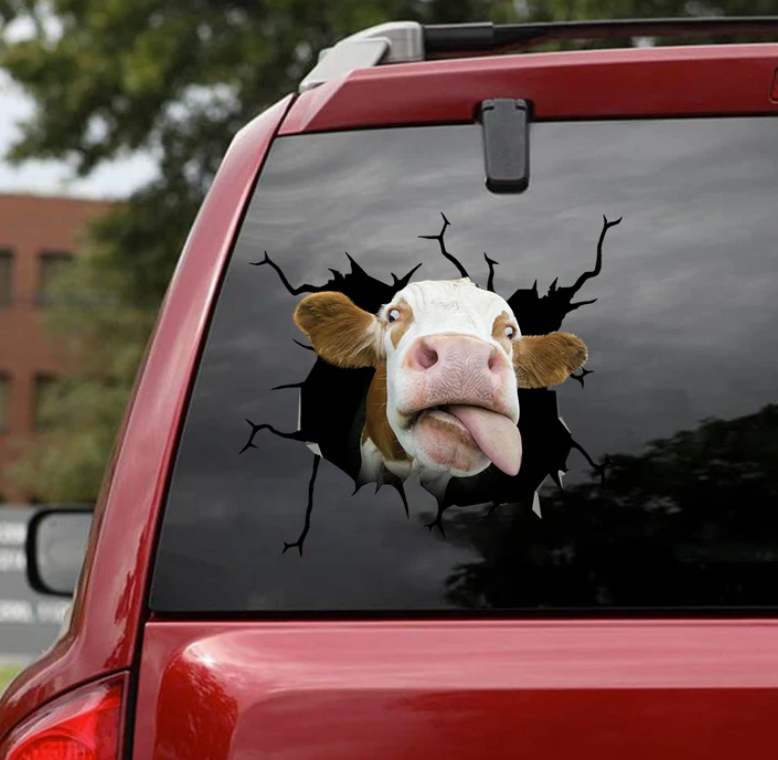 Cow crack decal
