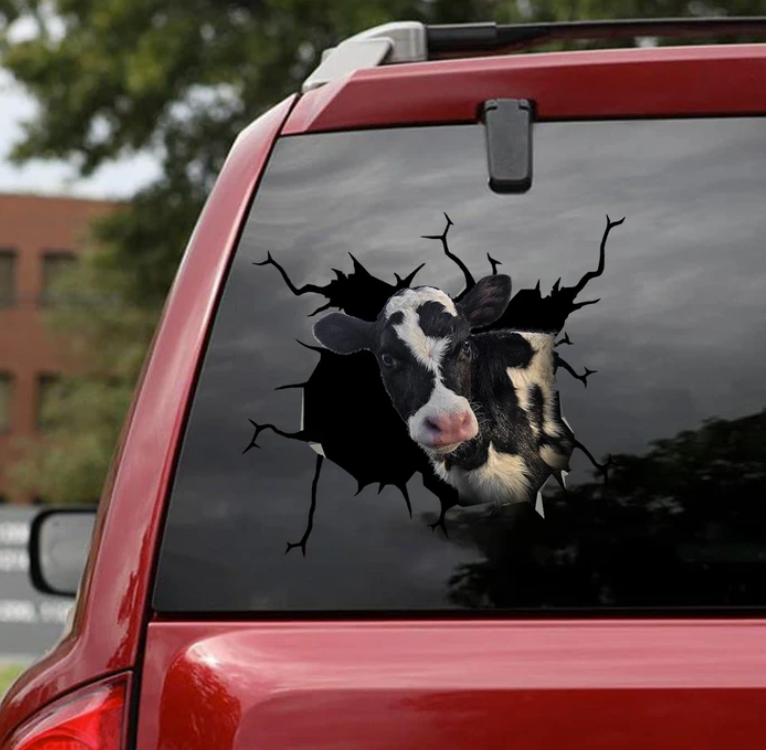 Dairy cow crack decal