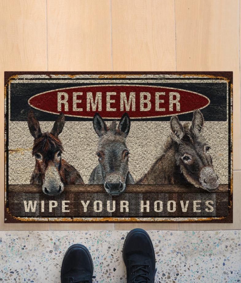 Donkey remember wipe your hooves doortmat 1
