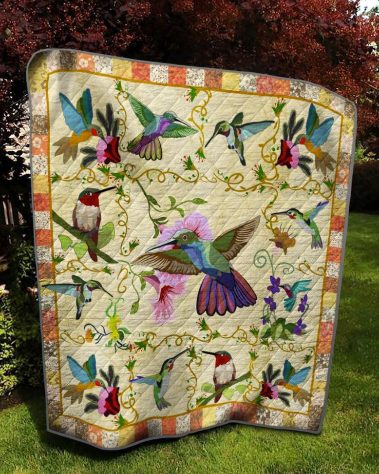 Hummingbird 3D quilt