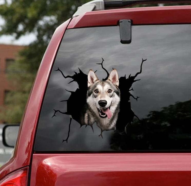 Husky crack decal